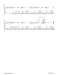 Makes Me Wonder-Maroon 5-Numbered-Musical-Notation-Preview-5