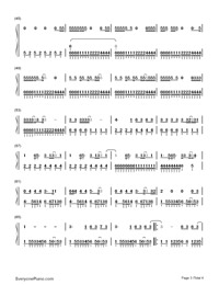 Sunday Morning-Maroon 5-Numbered-Musical-Notation-Preview-3