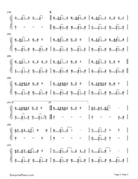 Whenever Wherever-Shakira-Numbered-Musical-Notation-Preview-2