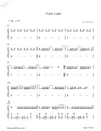Flashlight-Pitch Perfect 2 OST Free Piano Sheet Music