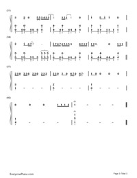Flashlight-Pitch Perfect 2 OST-Numbered-Musical-Notation-Preview-3