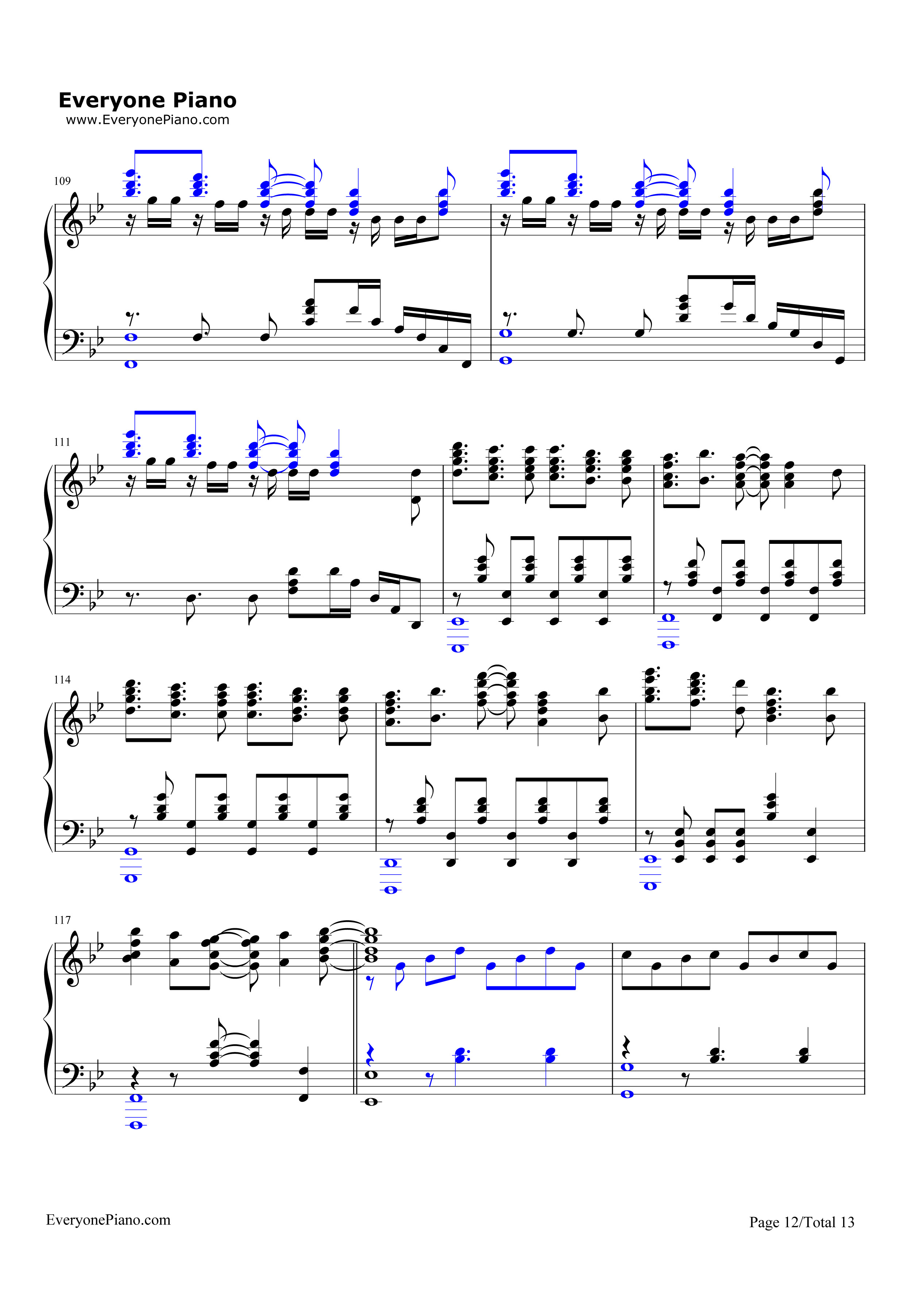 Unravel-Tokyo Ghoul Theme Stave Preview 12-Free Piano Sheet Music u0026 Piano Chords