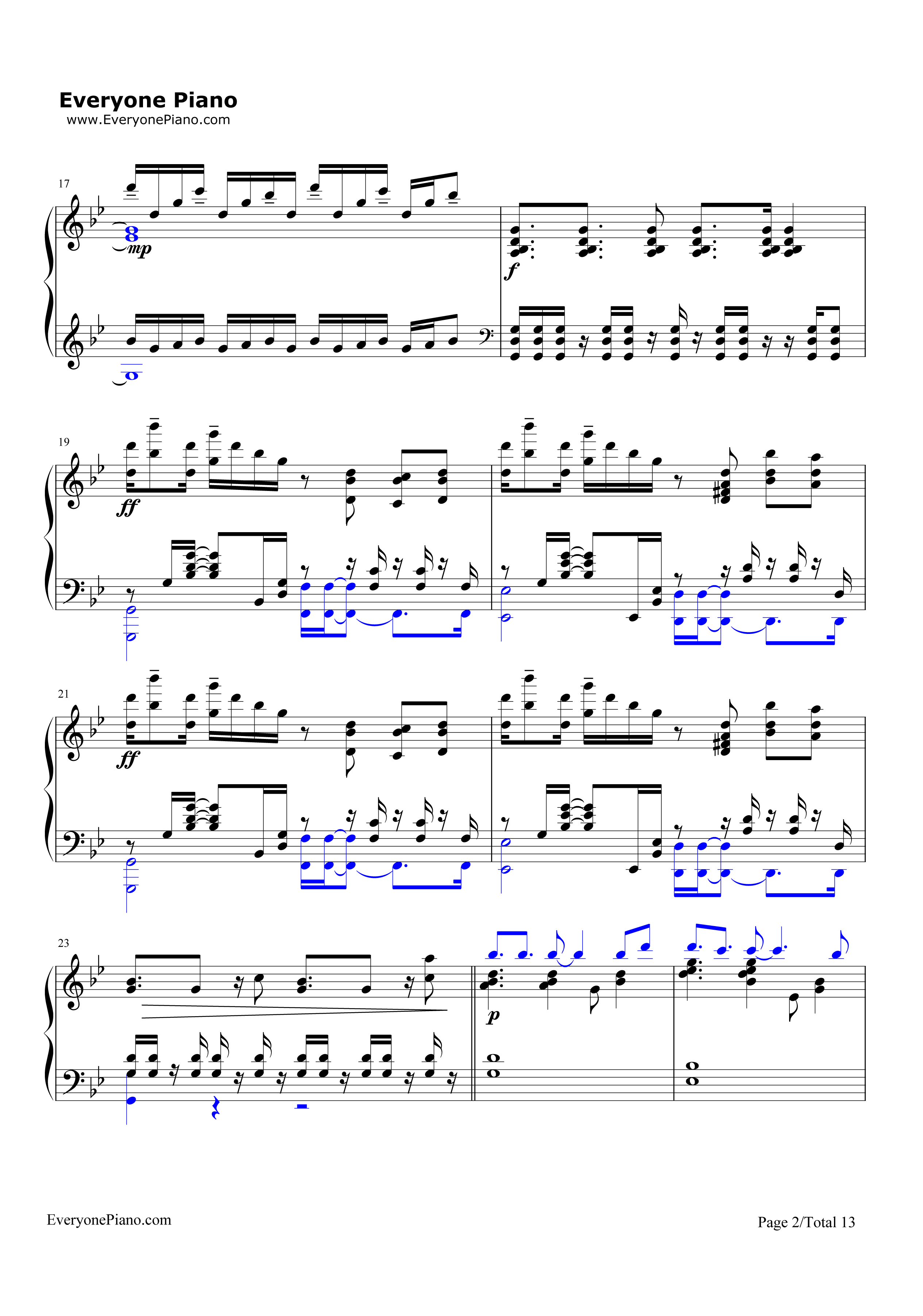 Unravel-Tokyo Ghoul Theme Stave Preview 2-Free Piano Sheet Music u0026 Piano Chords