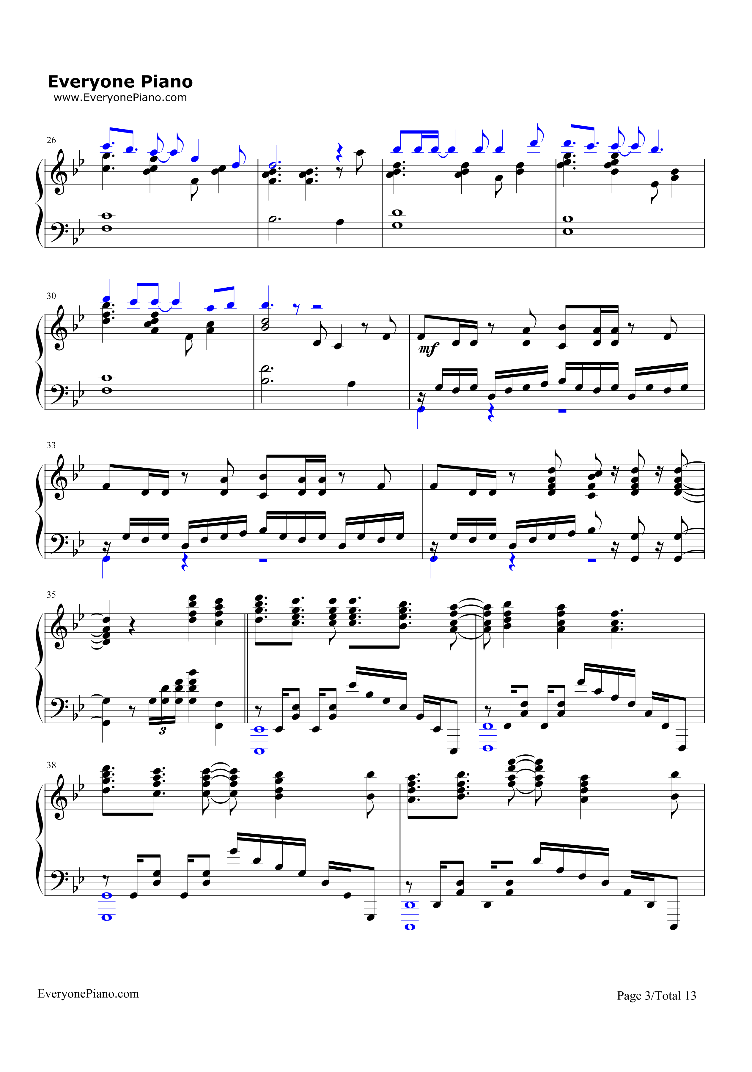 Unravel-Tokyo Ghoul Theme Stave Preview 3-Free Piano Sheet Music u0026 Piano Chords