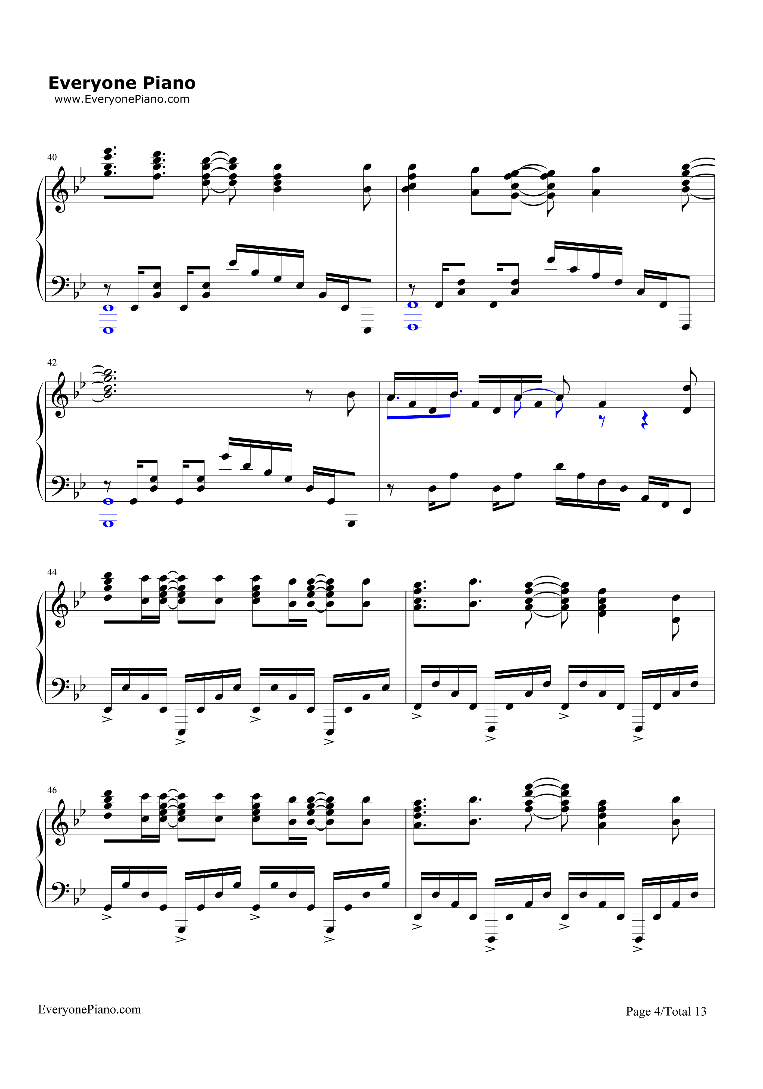 Unravel-Tokyo Ghoul Theme Stave Preview 4-Free Piano Sheet Music u0026 Piano Chords
