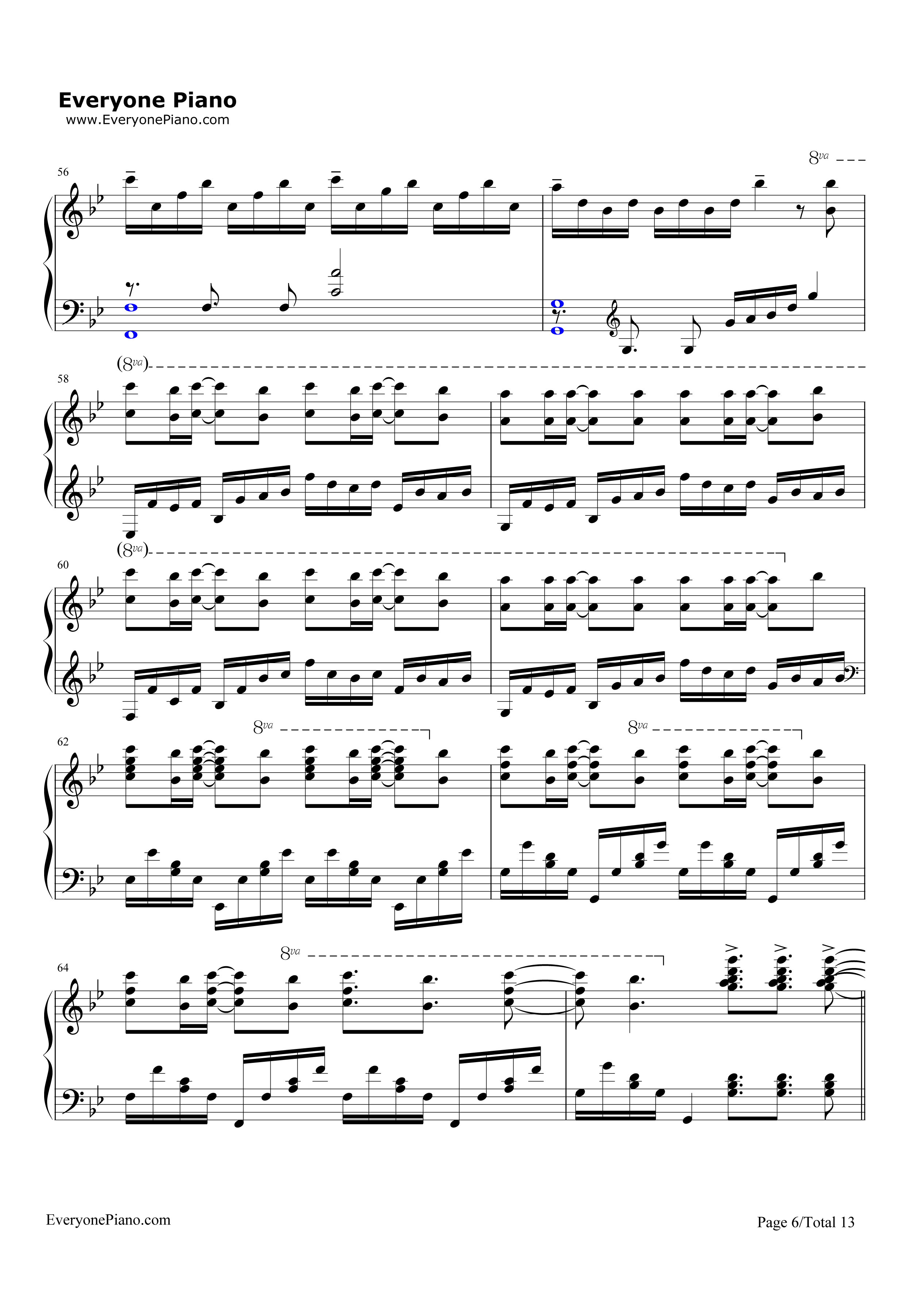 Unravel-Tokyo Ghoul Theme Stave Preview 6-Free Piano Sheet Music u0026 Piano Chords