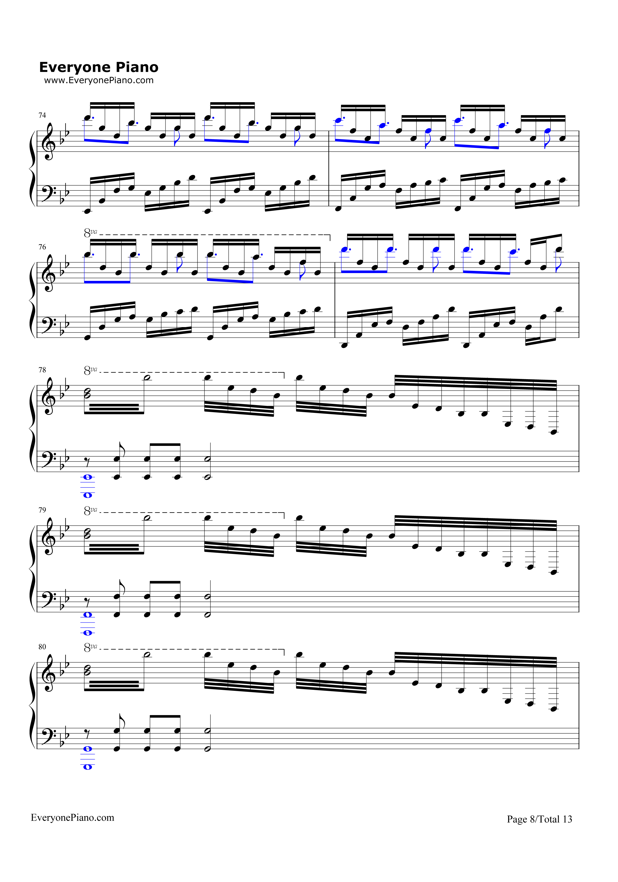 Unravel-Tokyo Ghoul Theme Stave Preview 8-Free Piano Sheet Music u0026 Piano Chords