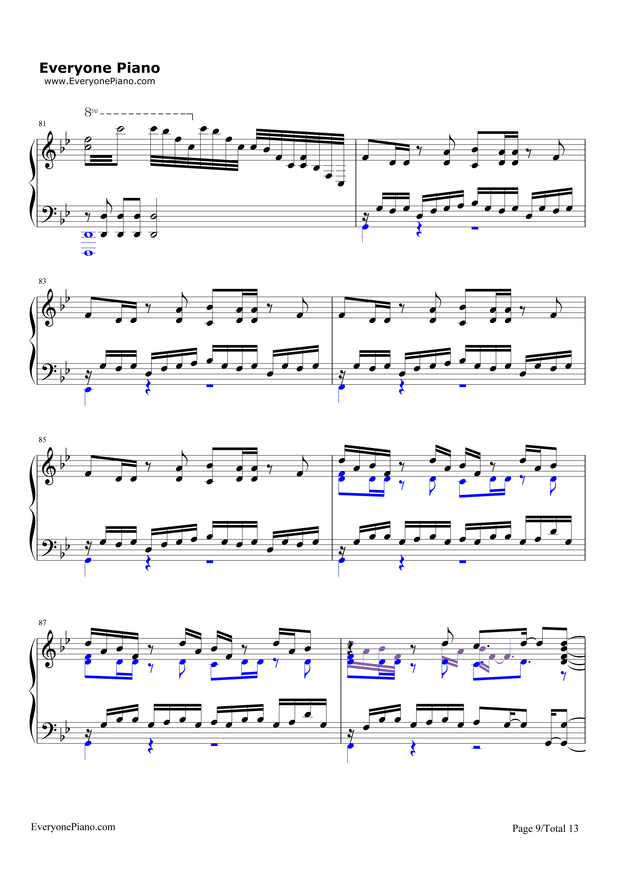 Unravel-Tokyo Ghoul Theme Stave Preview 9-Free Piano Sheet Music u0026 Piano Chords