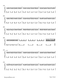 Insects Fly-Difficult Version-Numbered-Musical-Notation-Preview-2