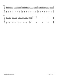 Insects Fly-Difficult Version-Numbered-Musical-Notation-Preview-4