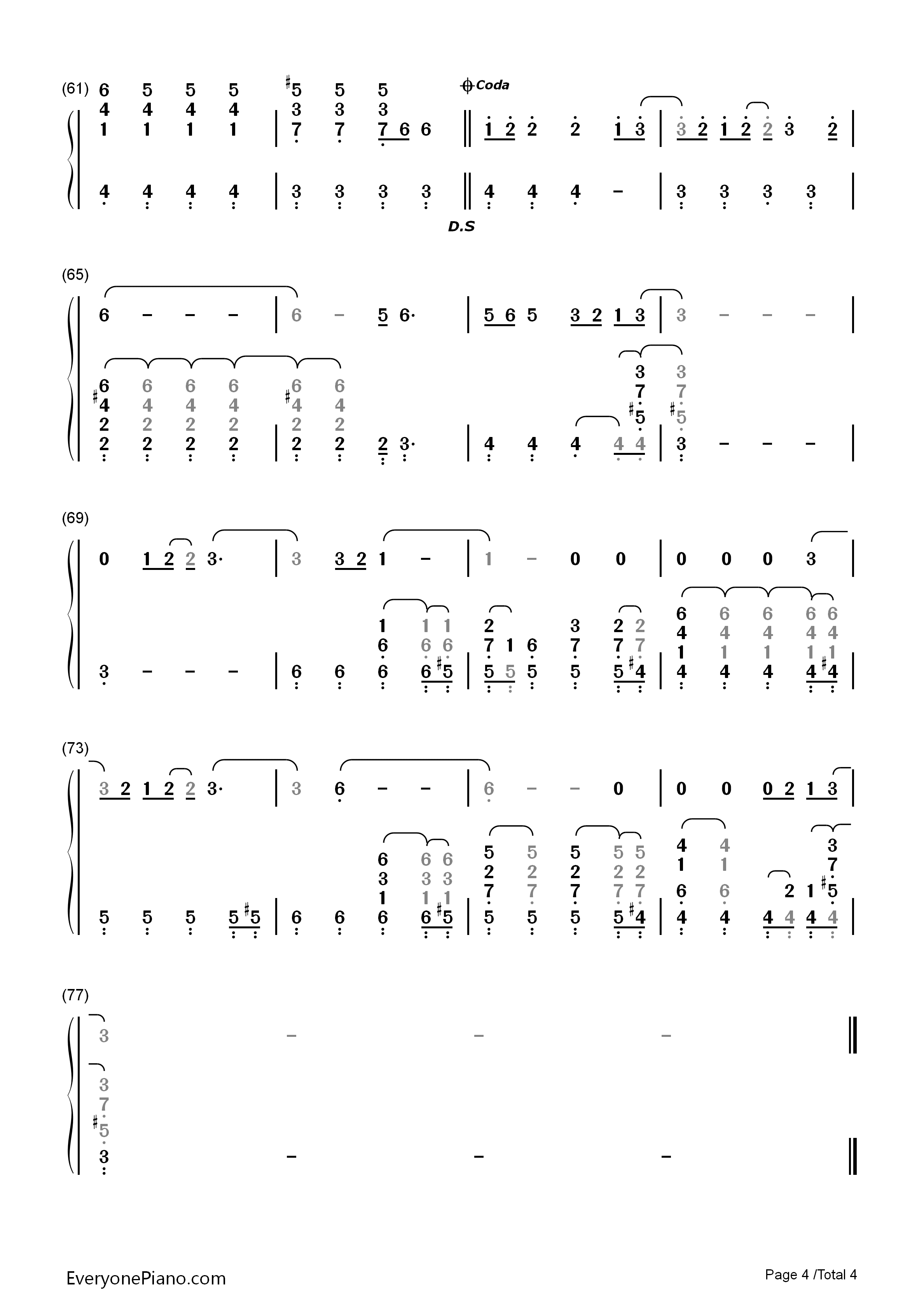 Before he cheats carrie underwood numbered musical notation preview