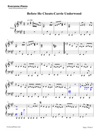 Before he cheats carrie underwood free piano sheet music amp piano