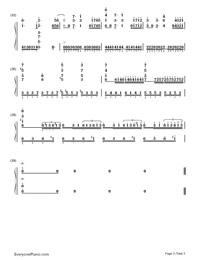 Fallen-PSYCHO-PASS 2 ED両手略譜プレビュー3