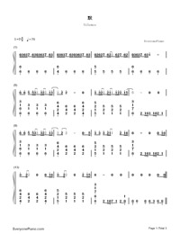 Silence-The Voice of China 4-Numbered-Musical-Notation-Preview-1