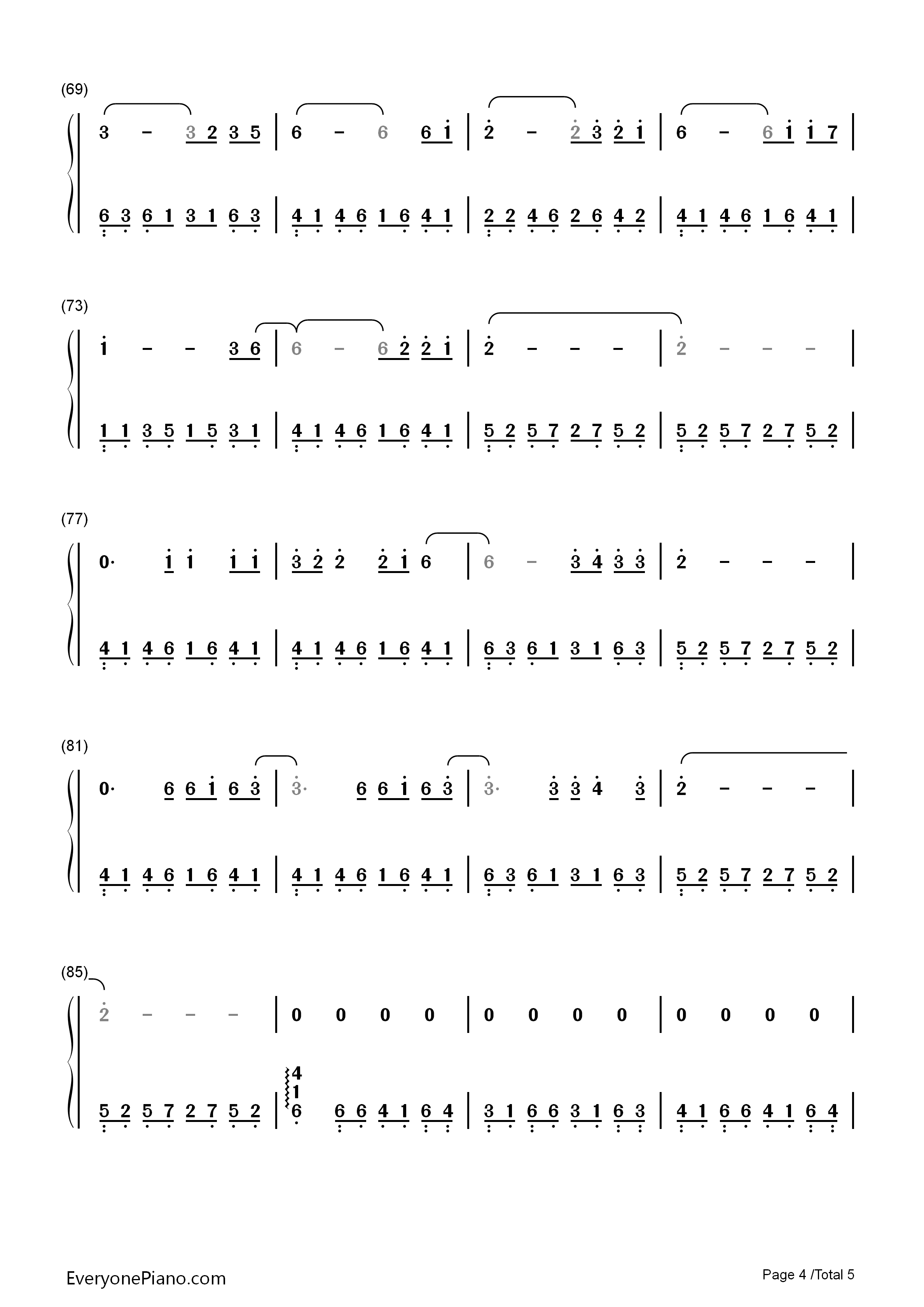 The last goodbye the hobbit ost numbered musical notation preview listen now print sheet the last goodbye the hobbit ost numbered musical notation preview 4 hexwebz Image collections