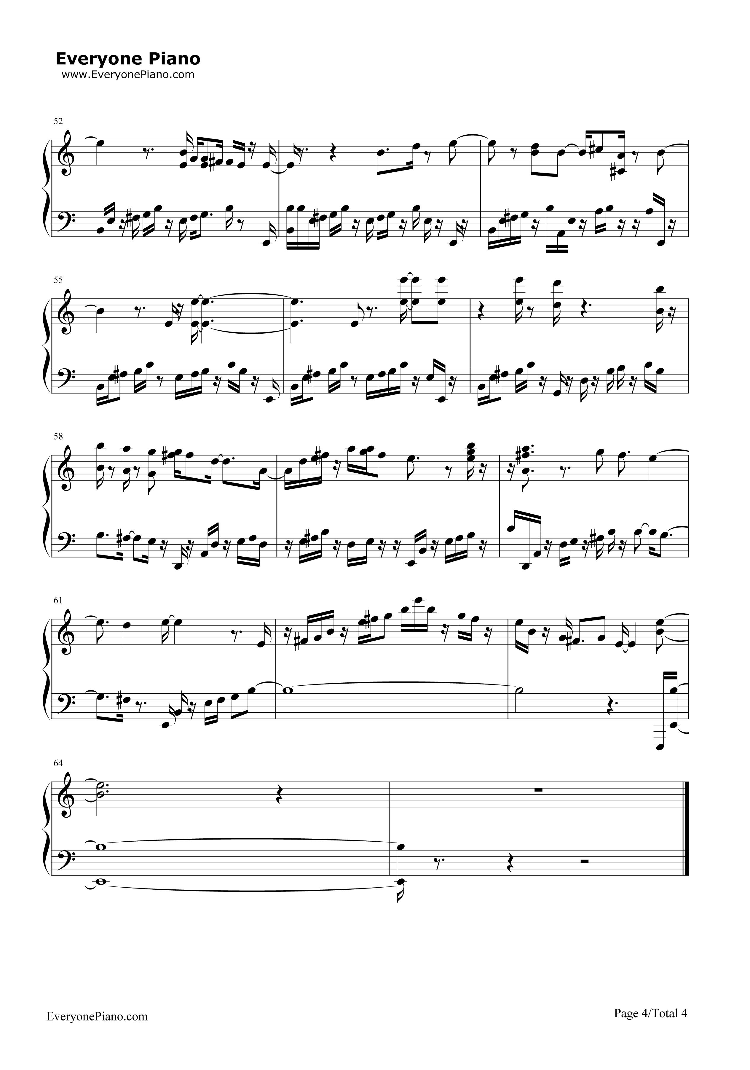 Scarborough Fair-Simon u0026 Garfunkel Stave Preview 4-Free Piano Sheet Music u0026 Piano Chords