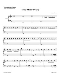 truly madly deeply savage garden free piano sheet music piano chords. Black Bedroom Furniture Sets. Home Design Ideas