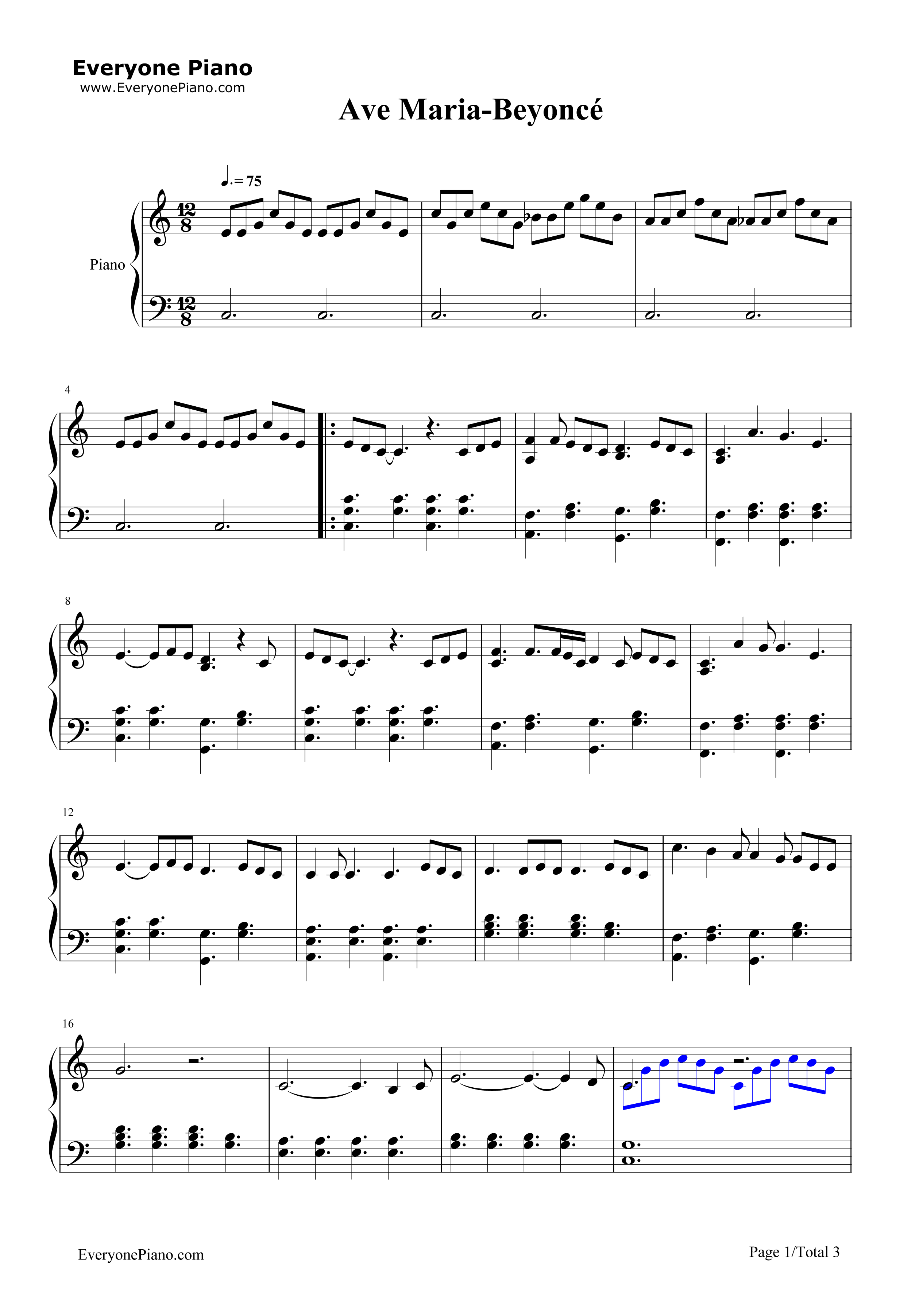 schubert ave maria piano solo pdf