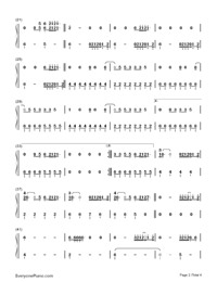 Cool for the Summer-Demi Lovato-Numbered-Musical-Notation-Preview-2