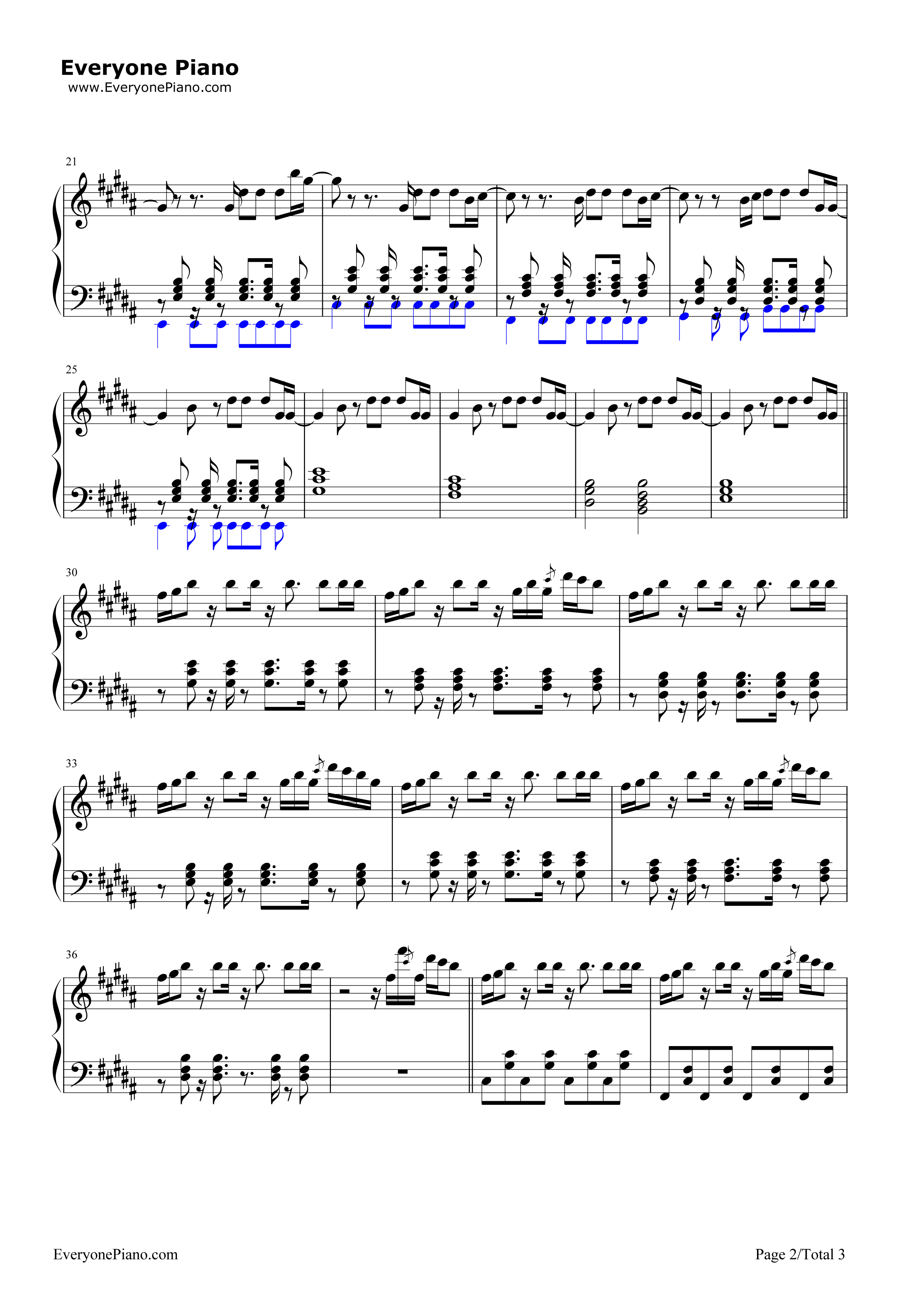 Stole the Show-Kygo Stave Preview 2-Free Piano Sheet Music u0026 Piano Chords