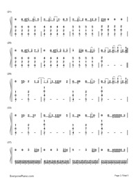 Bloodstream-Ed Sheeran-Numbered-Musical-Notation-Preview-2