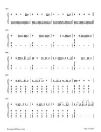 Bloodstream-Ed Sheeran-Numbered-Musical-Notation-Preview-3