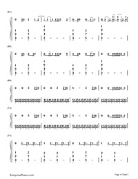 Bloodstream-Ed Sheeran-Numbered-Musical-Notation-Preview-4