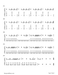 Bloodstream-Ed Sheeran-Numbered-Musical-Notation-Preview-5