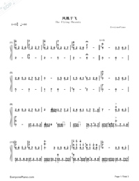 The Flying Phoenix-Empresses in the Palace ED-Numbered-Musical-Notation-Preview-1