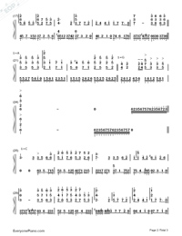 The Flying Phoenix-Empresses in the Palace ED-Numbered-Musical-Notation-Preview-2