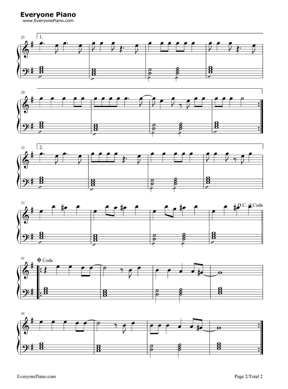 Uma Thurman-Fall Out Boy Stave Preview 2-Free Piano Sheet Music u0026 Piano Chords
