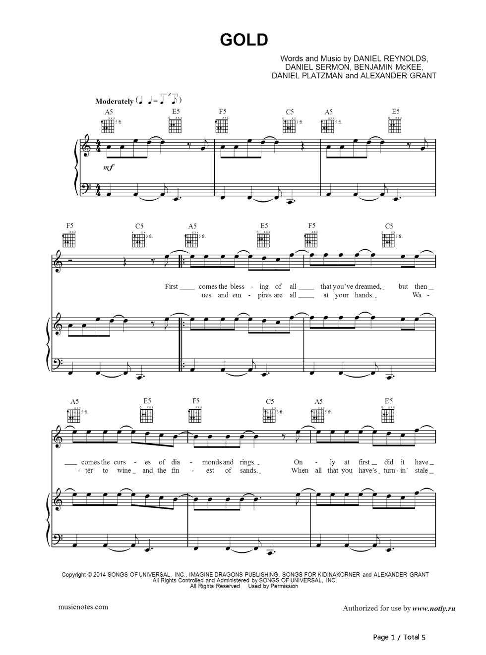 fight the dragons sheet music