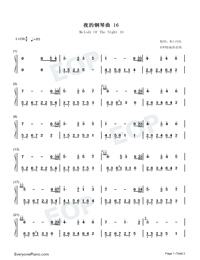 Melody Of The Night 16-Numbered-Musical-Notation-Preview-1