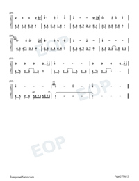 Melody Of The Night 16-Numbered-Musical-Notation-Preview-2