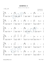 Melody Of The Night 20-Numbered-Musical-Notation-Preview-1