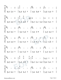 Melody Of The Night 20 Numbered Musical Notation Preview 2