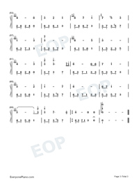 Melody Of The Night 20 Numbered Musical Notation Preview 3