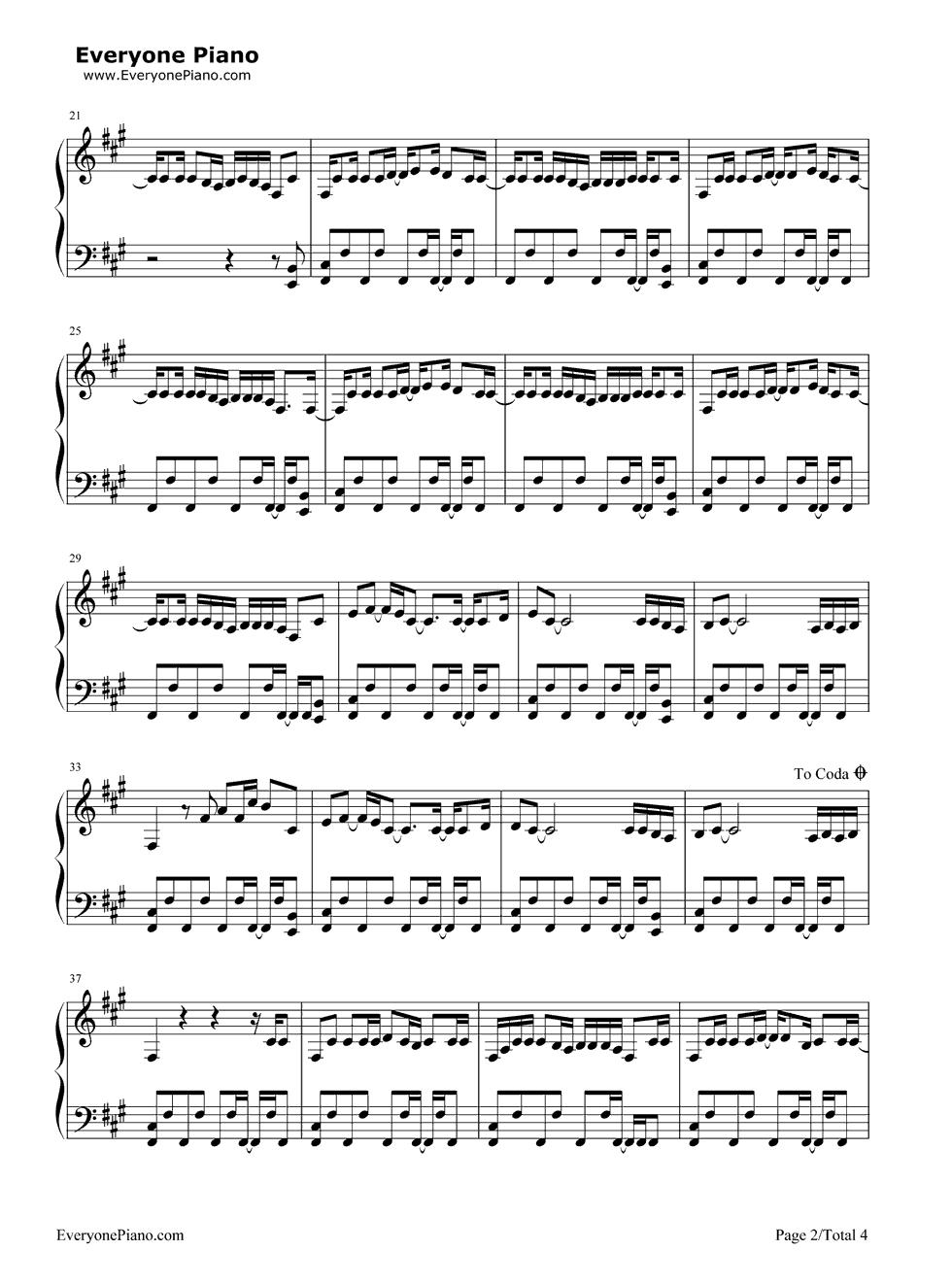 Pon de replay rihanna stave preview 2 free piano sheet music listen now print sheet pon de replay rihanna stave preview 2 hexwebz Image collections