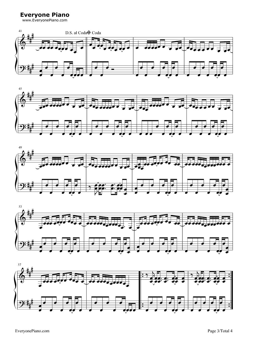 Pon de replay rihanna stave preview 3 free piano sheet music listen now print sheet pon de replay rihanna stave preview 3 hexwebz Image collections
