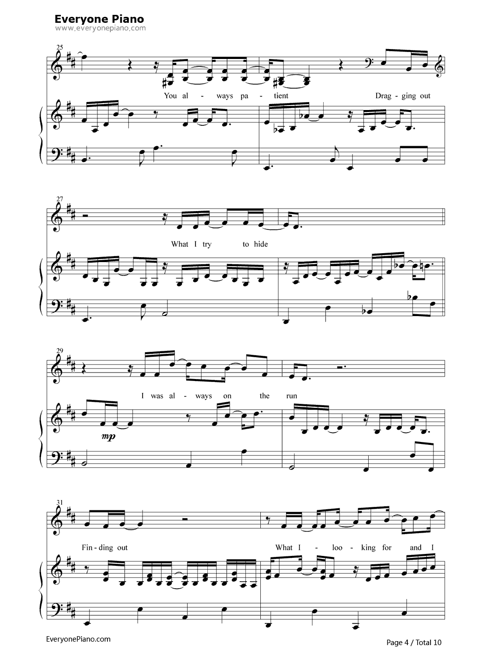 You ten sharp free piano sheet music piano chords you ten sharp stave preview 4 hexwebz Image collections
