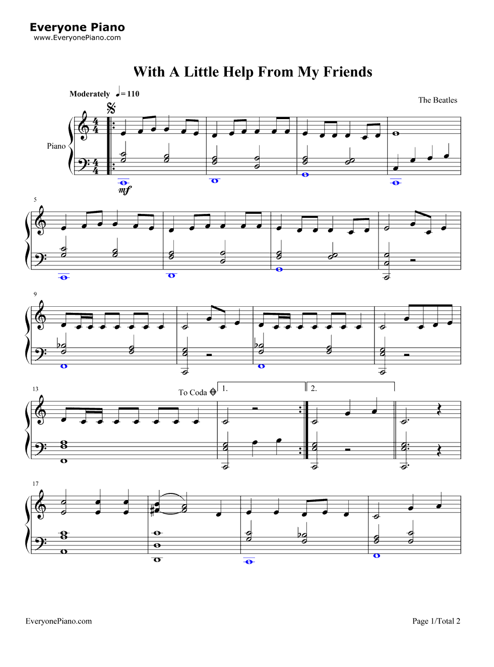 With a little help from my friends the beatles stave preview 1 listen now print sheet with a little help from my friends the beatles stave preview 1 hexwebz Choice Image