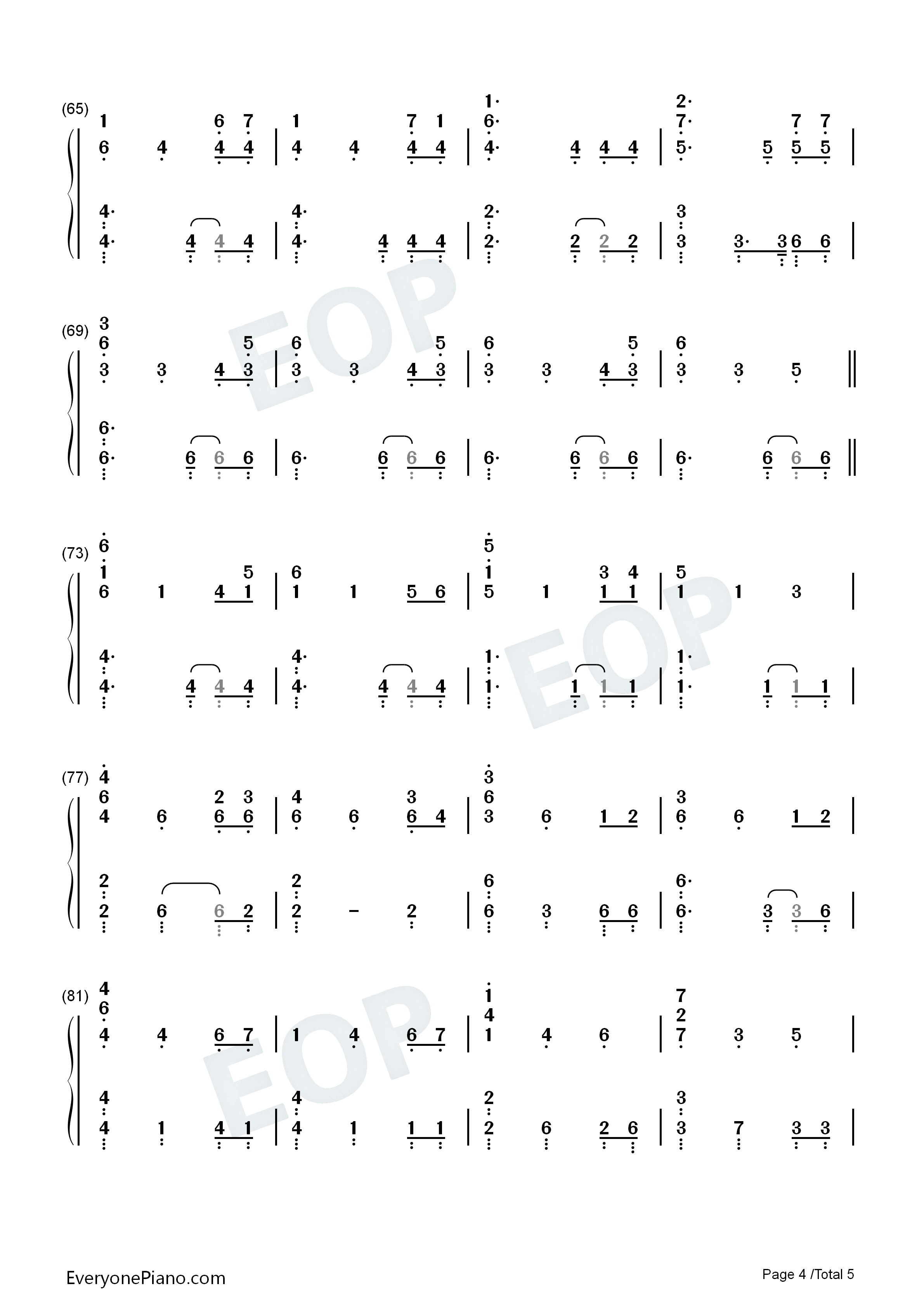 Game of thrones a song of ice and fire numbered musical notation listen now print sheet game of thrones a song of ice and fire numbered musical notation preview 4 hexwebz Images