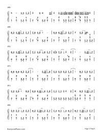 Little Luck-Our Times Theme-Numbered-Musical-Notation-Preview-3