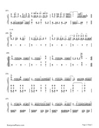 Mirror Night-Reflection (Mirror Night)-Numbered-Musical-Notation-Preview-2