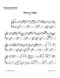 Mirror Night-Reflection (Mirror Night) Stave Preview 1