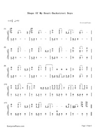 Shape of My Heart-Backstreet Boys Numbered Musical Notation Preview 1