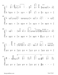 Shape of My Heart-Backstreet Boys Numbered Musical Notation Preview 4