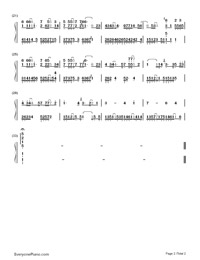 Escape from the Tiger's Mouth-Numbered-Musical-Notation-Preview-2