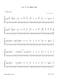 Let It Go-James Bay- Free Piano Sheet Music & Piano Chords
