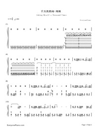 Asking Myself a Thousand Times Numbered Musical Notation Preview 1
